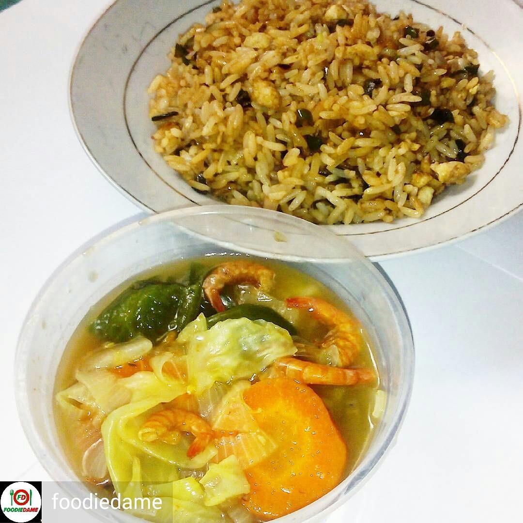 Carrot Cabbage Prawn Soup